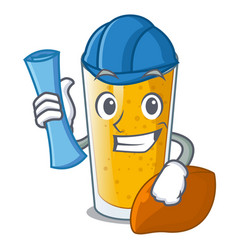 architect lassi mango in a cartoon bottle vector image
