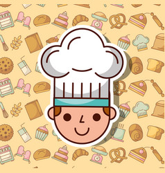 Bakery and dessert products vector