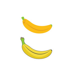 banana icon template vector image