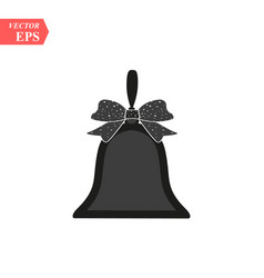 Bell christmas happy new year symbol isolated vector