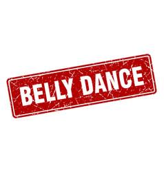 Belly dance stamp belly dance vintage red label vector