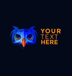 blue owl logo vector image