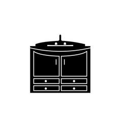 cabinet under the sink icon bathroom and sauna vector image