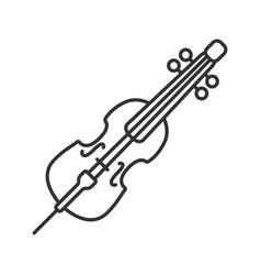 Cello linear icon vector