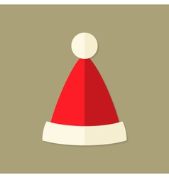 Christmas Santa Claus Hat Flat Icon vector