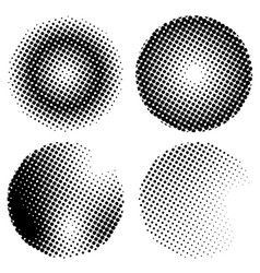 circle halftone background effect collection vector image