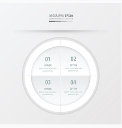Circle presentation template white color vector