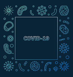 Covid-19 virus concept colored outline vector