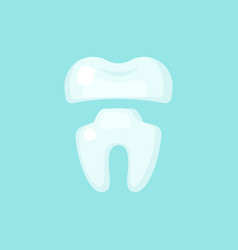 crown tooth cute colorful icon vector image