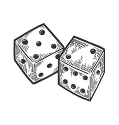 dice engraving vector image