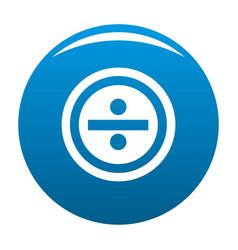 Divide icon blue vector
