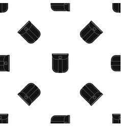 fashion jeans pocket pattern seamless black vector image
