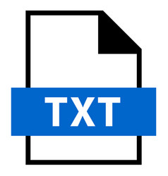 file name extension txt type vector image