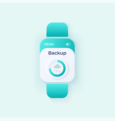 Files backup smartwatch interface template mobile vector