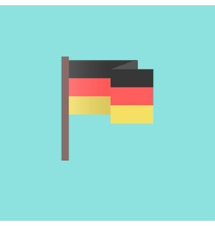flat Germany flag on blue background vector image
