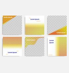 fluid wave social media in orange layout template vector image