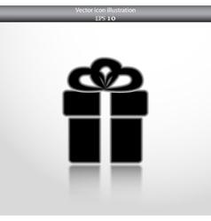 gift box web flat icon vector image
