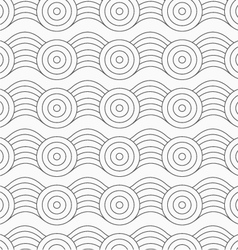 Gray circles on bulging waves vector