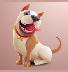 Happy dog vector
