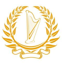 harp symbol vector image