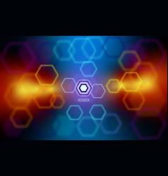 Hexagon tesseract abstract vector