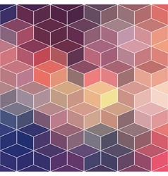 Hipster geometric background made of cubesRetro vector