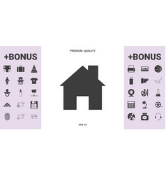 Home icon symbol - graphic elements for your vector