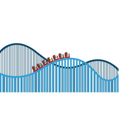 Isolated roller coaster vector