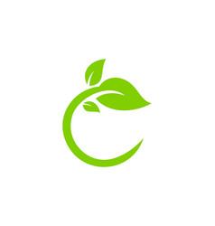 leaf letter c logo icon design vector image