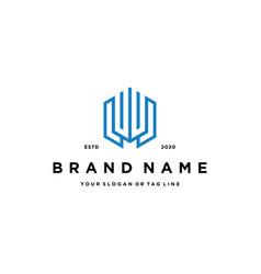Letter l financial logo design vector