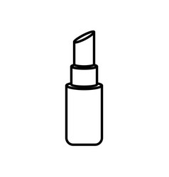 lipstick makeup cosmetic icon on white background vector image
