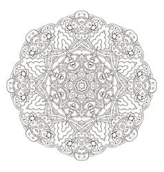 mandala coloring oriental pattern traditional vector image