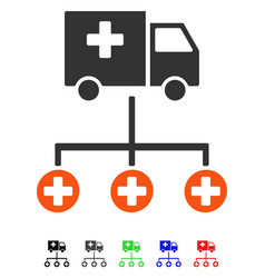 Medical delivery structure flat icon vector