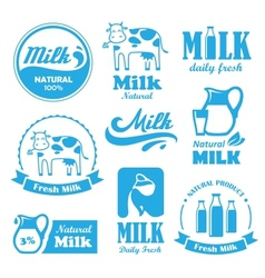 Milk labels vector image vector image