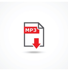 Mp3 download icon vector image