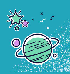 planets in space vector image