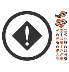 problem icon with valentine bonus vector image