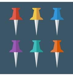 Pushpin flat icon vector