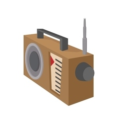 Radio receiver icon cartoon style on white vector