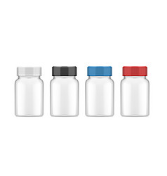 realistic plastic bottle for medical or other use vector image