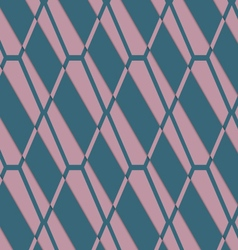 Retro 3D pink and green diamond net vector