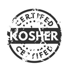 Retro kosher teal vintage stamp for quality vector
