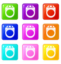Ring icons 9 set vector