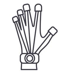 robotics hand line icon sign vector image