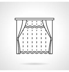 Room window decor flat line icon vector image
