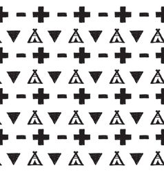 Seamless black and white pattern vector image