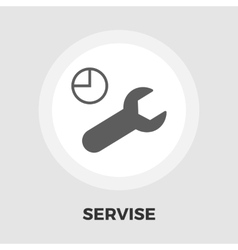 Service icon flat vector image