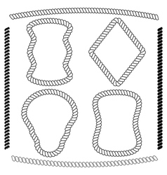 set of rope frames rectangular shape vector image