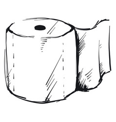 Sketch wc paper on white background vector