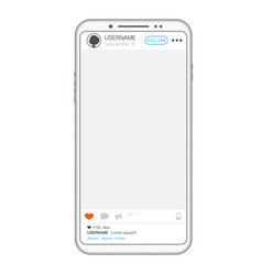 social media post phone vector image